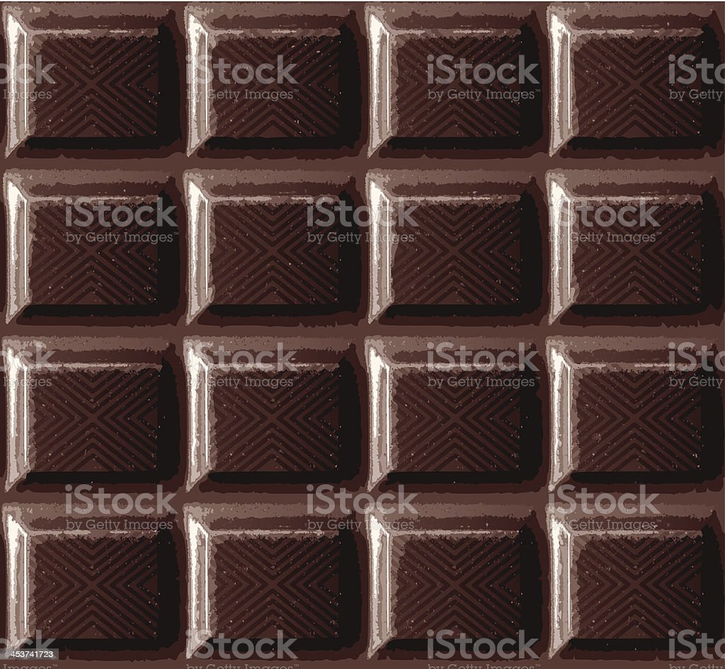 seamless dark chocolate banner vector art illustration