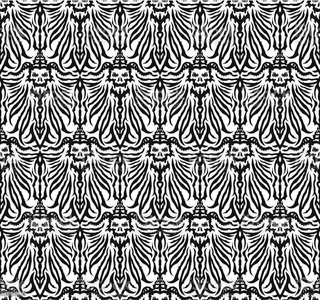 Seamless dark fantasy ornament royalty-free stock vector art