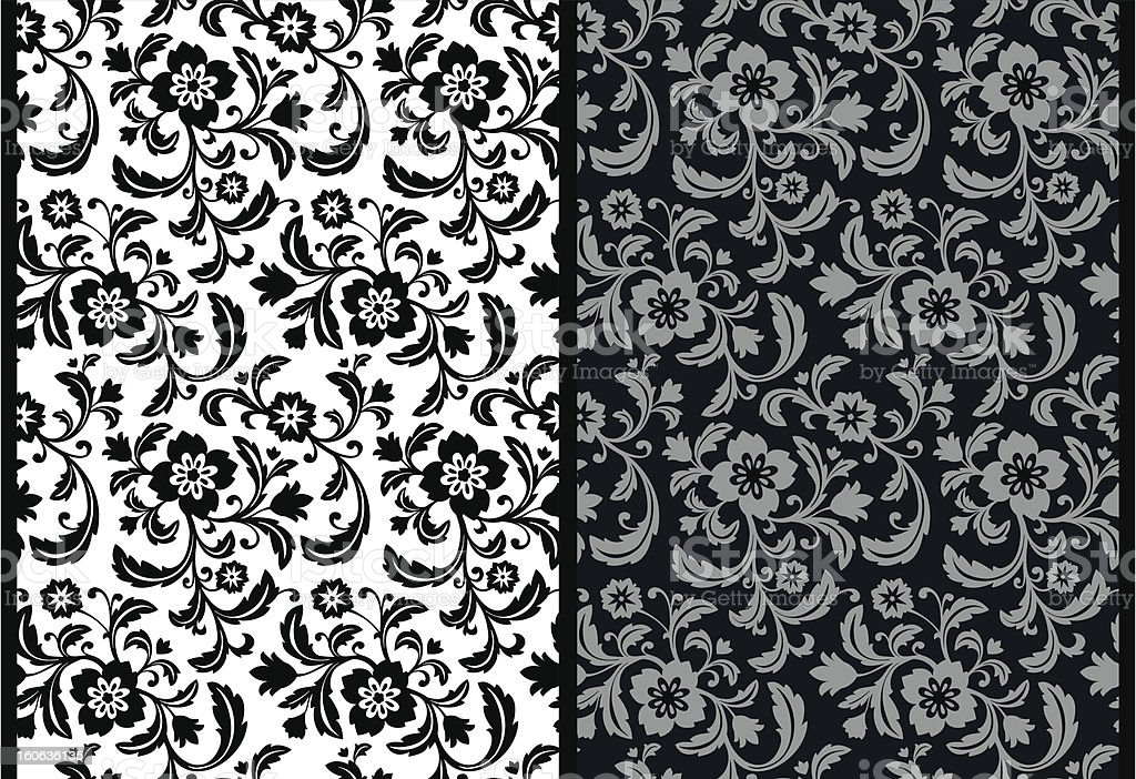 Seamless decorative floral background pattern. royalty-free stock vector art