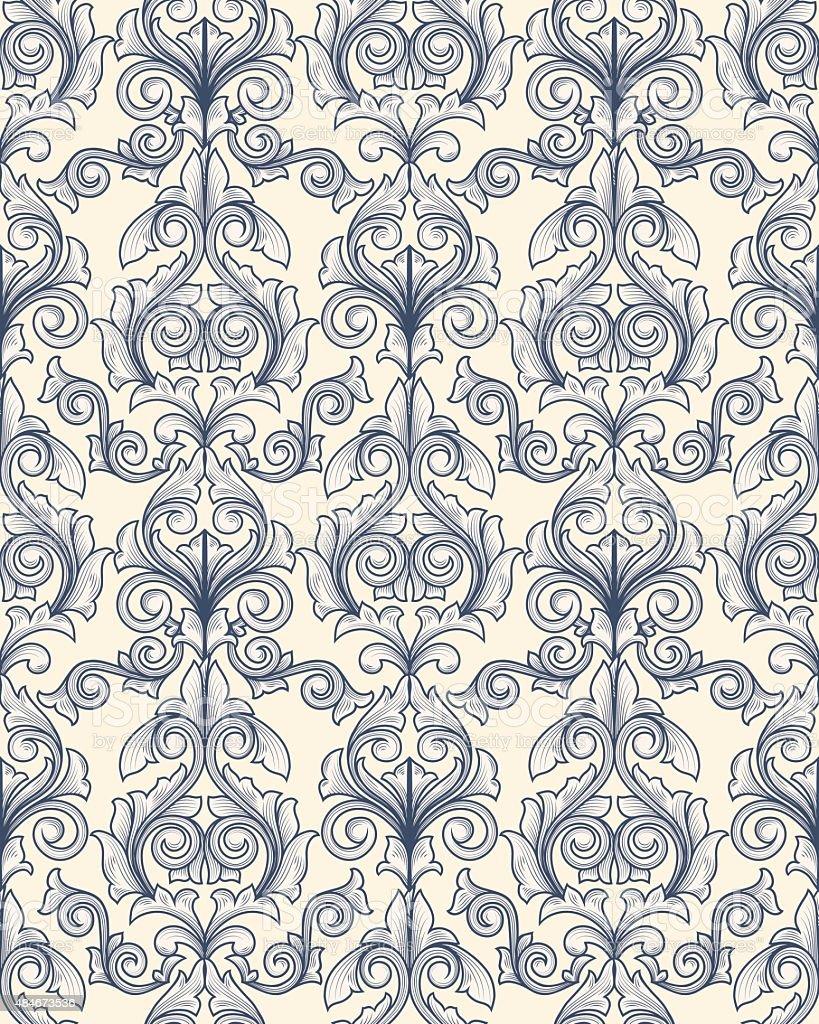 Seamless decorative pattern vector art illustration