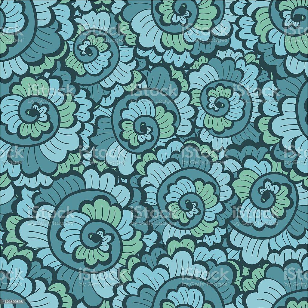 Seamless decorative wavy pattern green royalty-free stock vector art