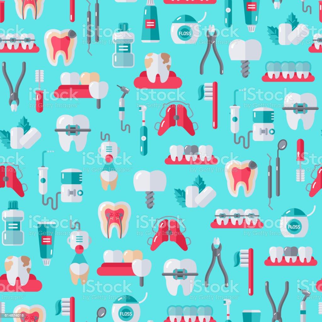 Seamless Dentist Equipment Pattern vector art illustration