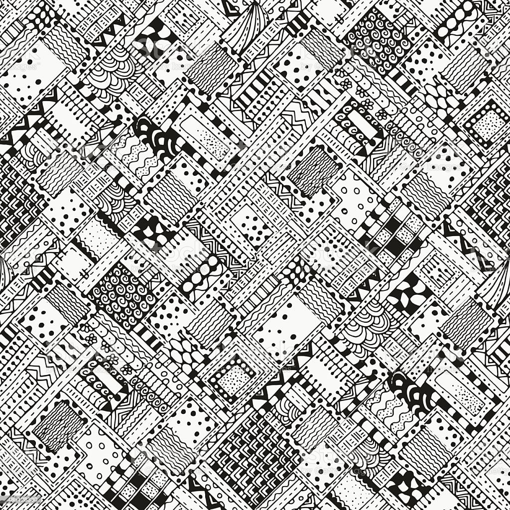 Patrones Abstractos Sin Costuras Diagonal Con Cifras Illustracion ...