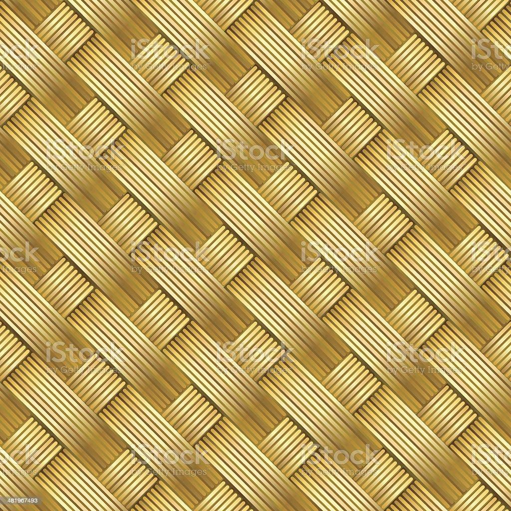 Seamless diagonal straw mat texture royalty-free stock vector art