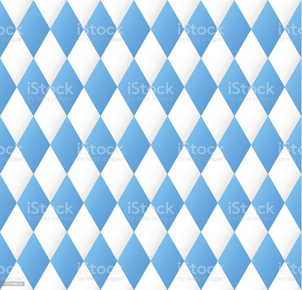 seamless diamond pattern in blue and white vector art illustration