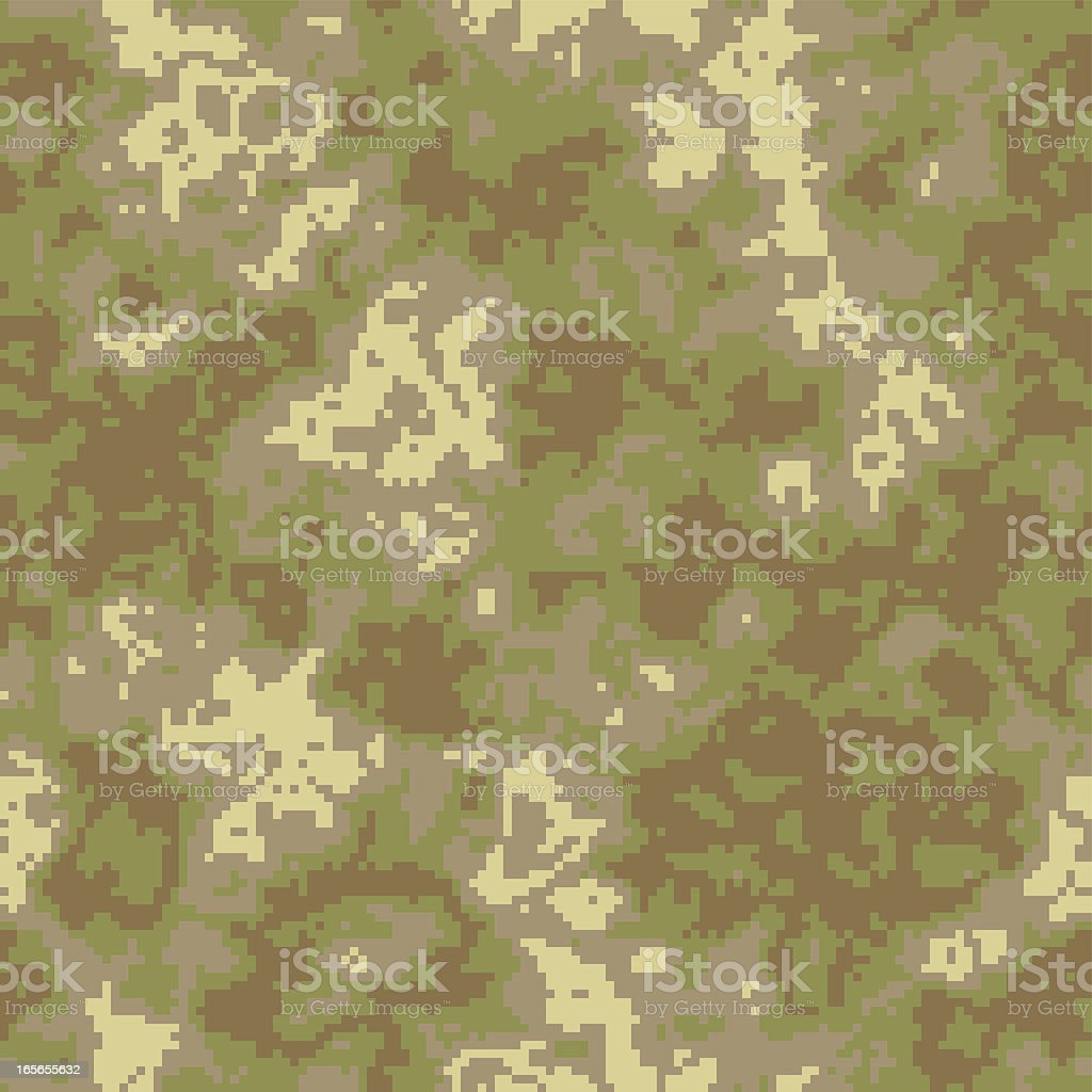 Seamless Digital Camouflage Pattern, Vector royalty-free stock vector art