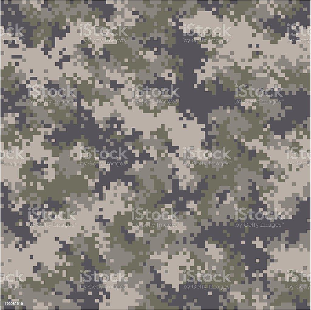 seamless digital camouflage vector art illustration
