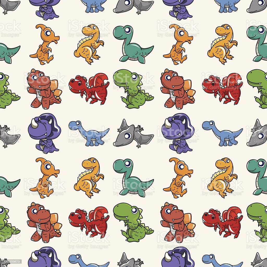 seamless Dinosaur pattern royalty-free stock vector art