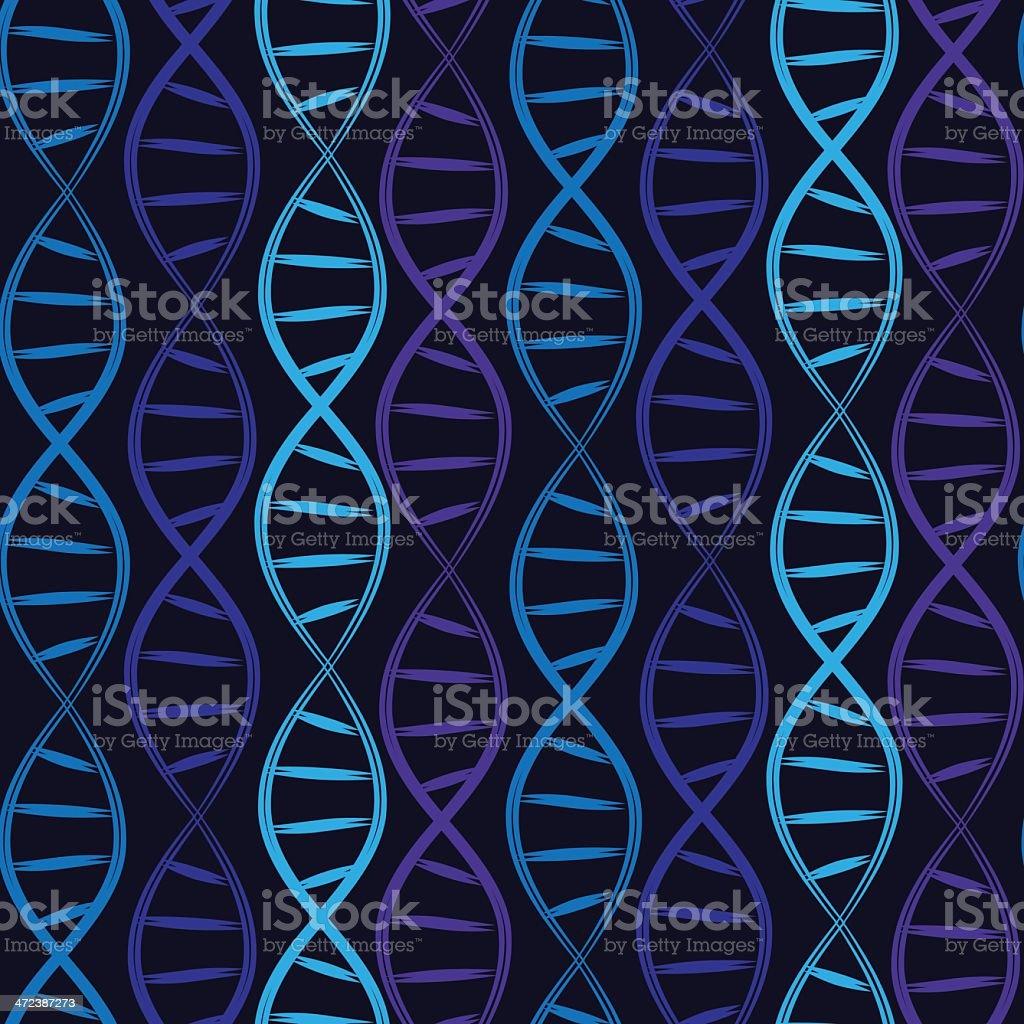 Seamless DNA pattern vector art illustration