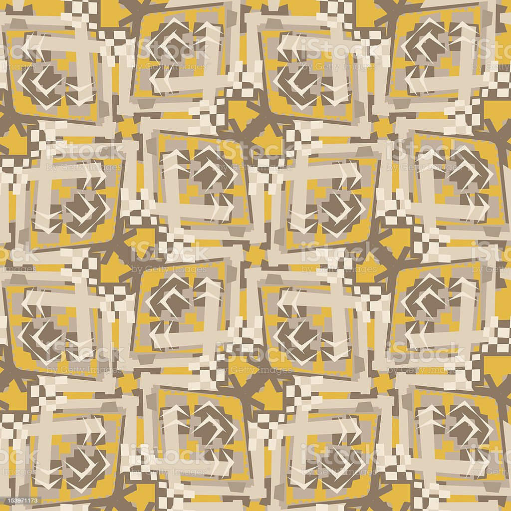 Seamless Dogon Pattern vector art illustration