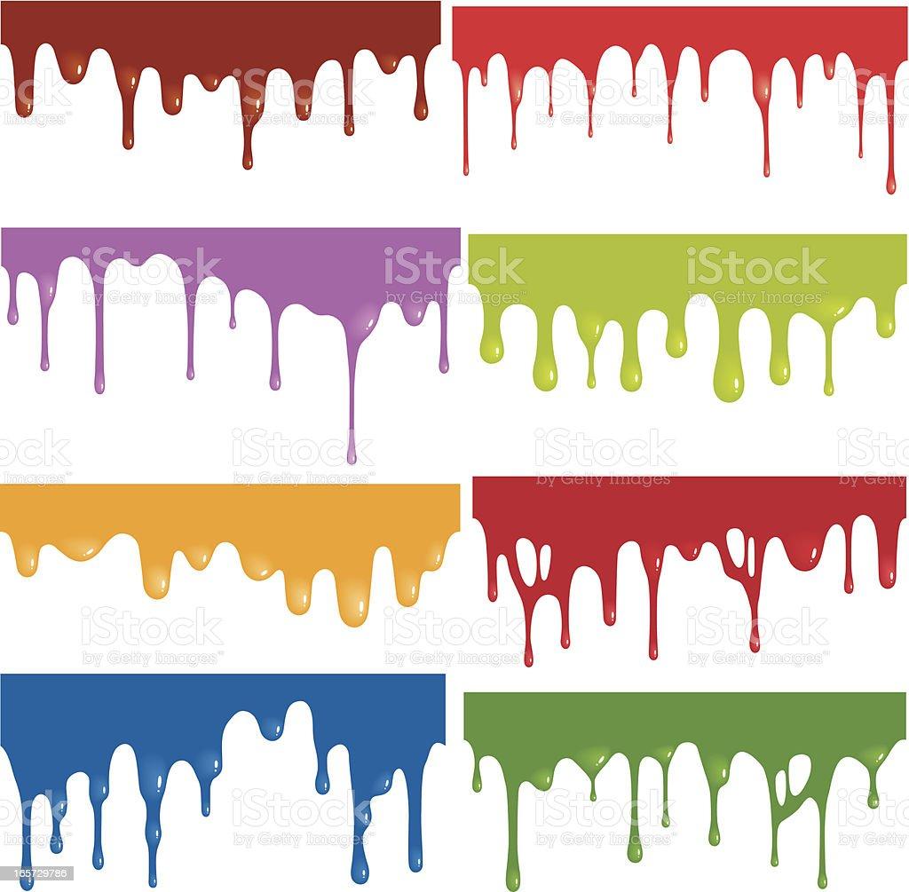Seamless Drips vector art illustration