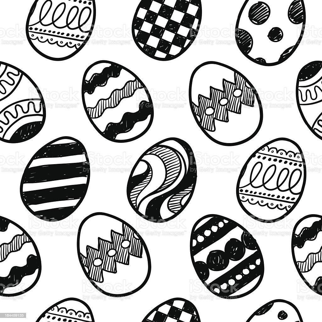 Seamless easter egg vector background vector art illustration