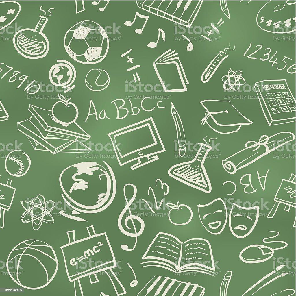 Seamless education wallpaper background vector art illustration