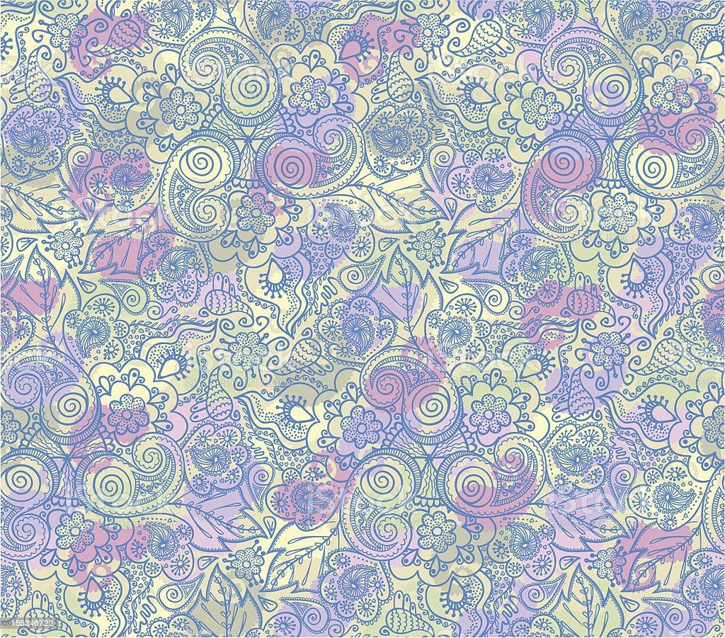 Seamless elegant lace pattern royalty-free stock vector art