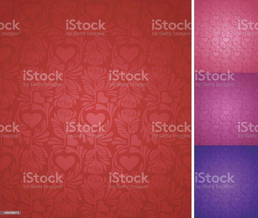Seamless Elegant Valentine's Day Background royalty-free stock vector art