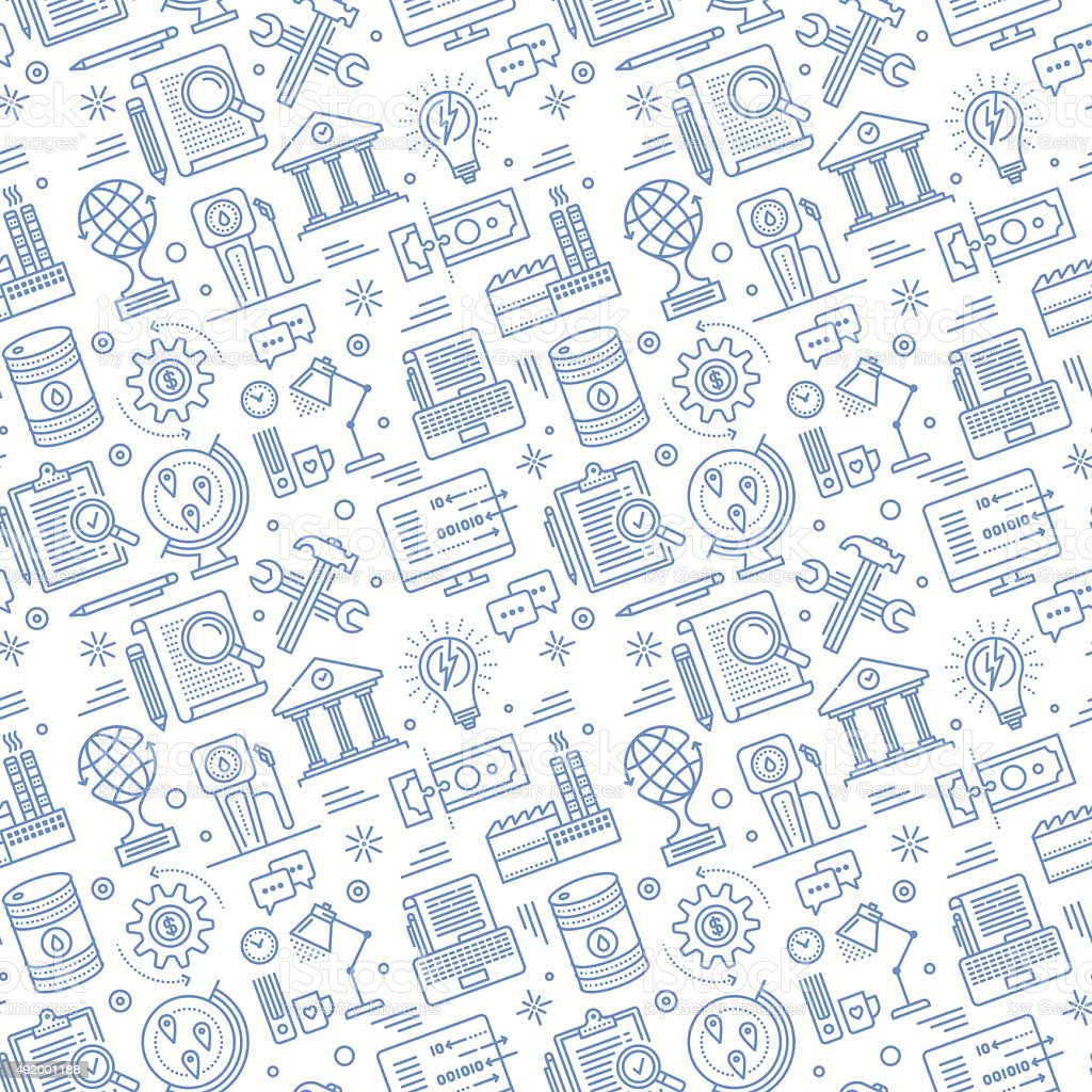 Seamless Energy Pattern vector art illustration