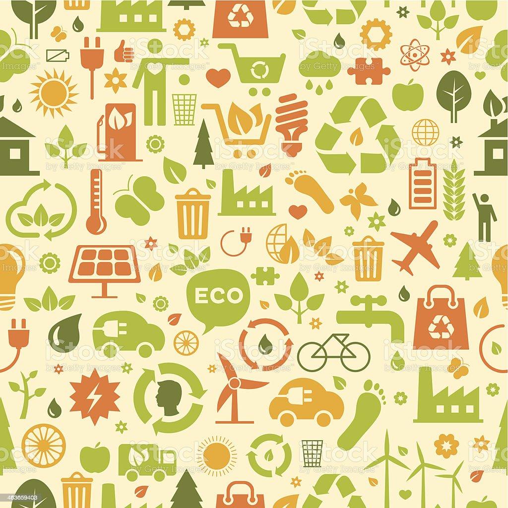 Seamless environment pattern vector art illustration