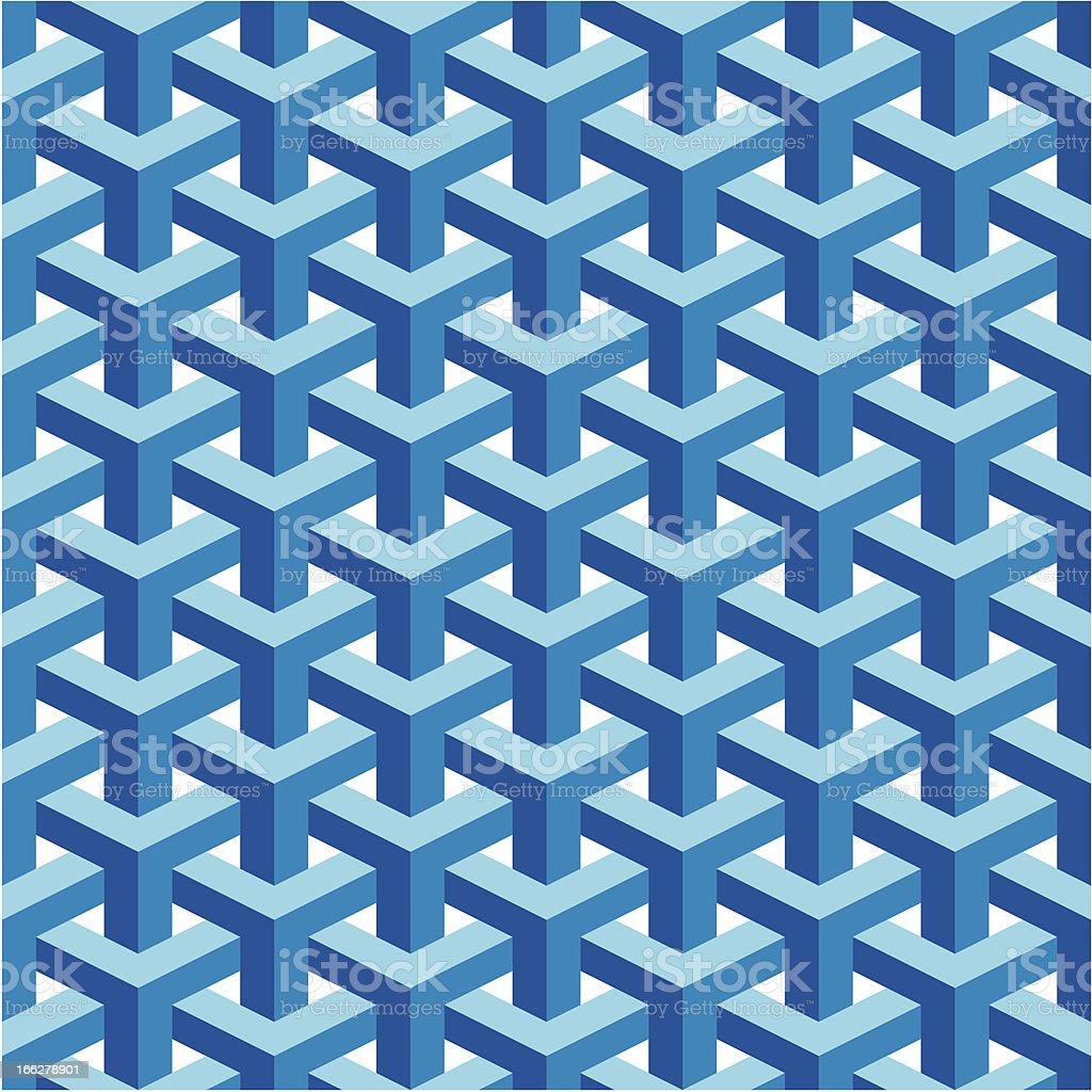 Seamless Escher Pattern royalty-free stock vector art
