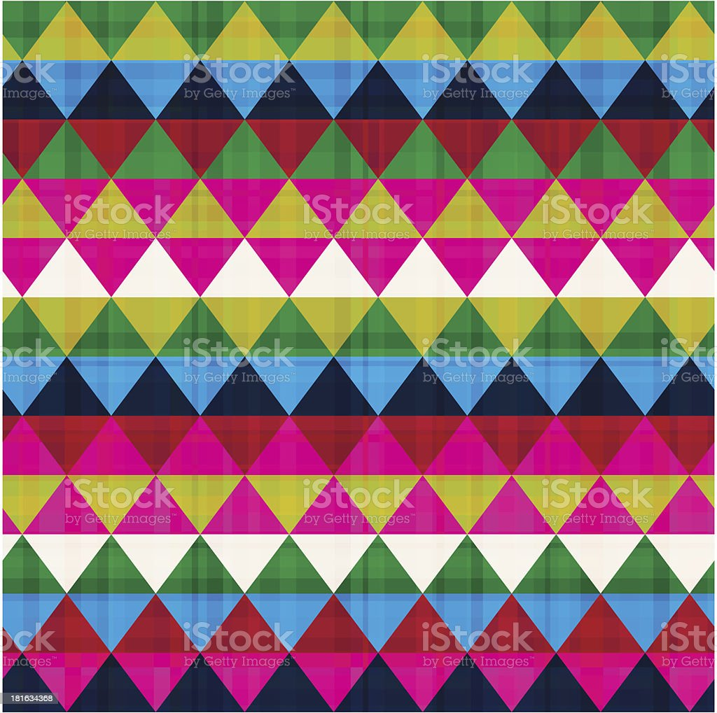 seamless ethnic geometric pattern royalty-free stock vector art