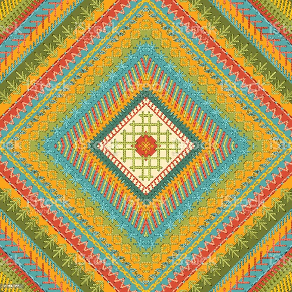 Seamless ethnic texture. vector art illustration
