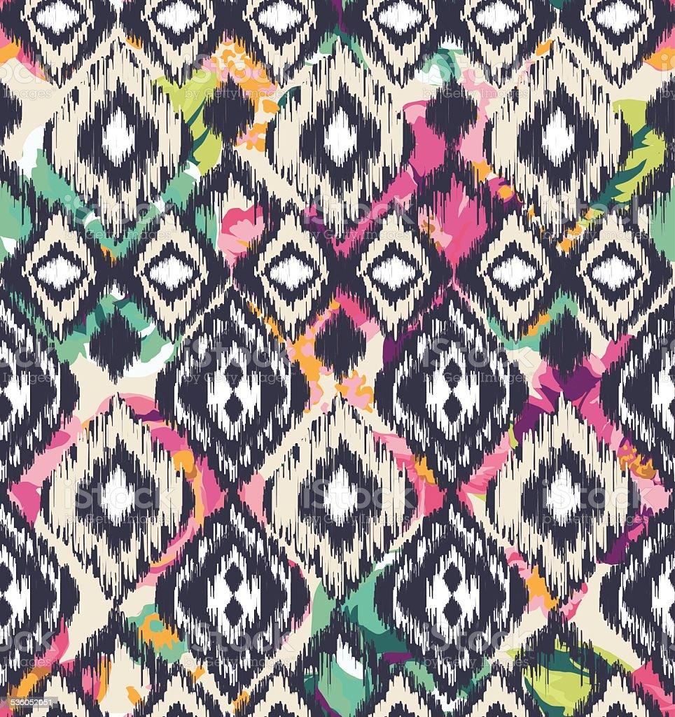 seamless ethnic  vector print pattern vector art illustration