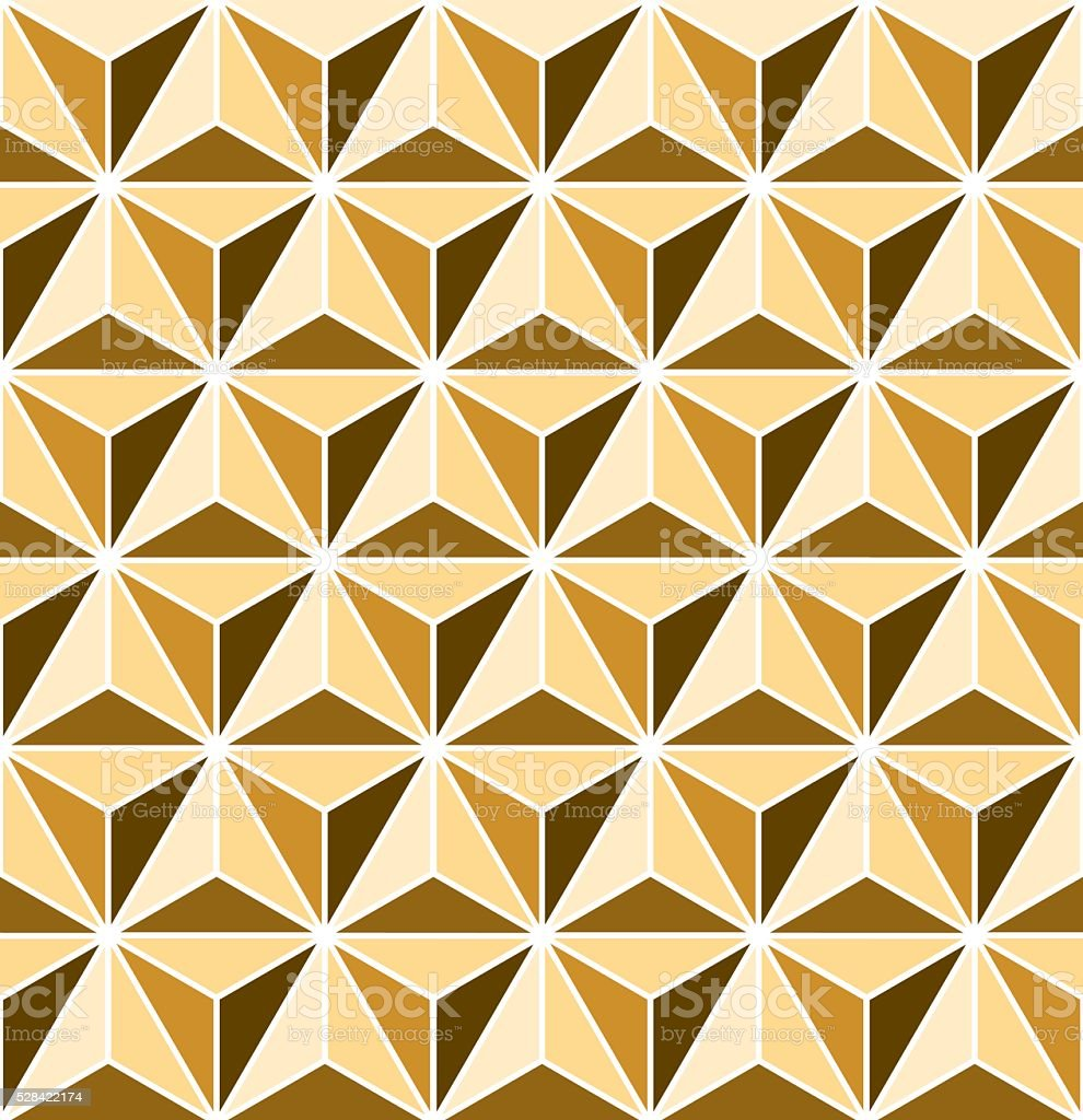 Seamless faceted triangle Art Deco pattern vector art illustration