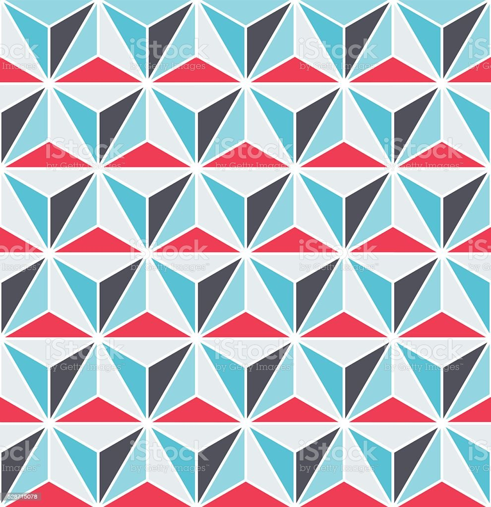 Seamless faceted triangular Art Deco pattern vector art illustration