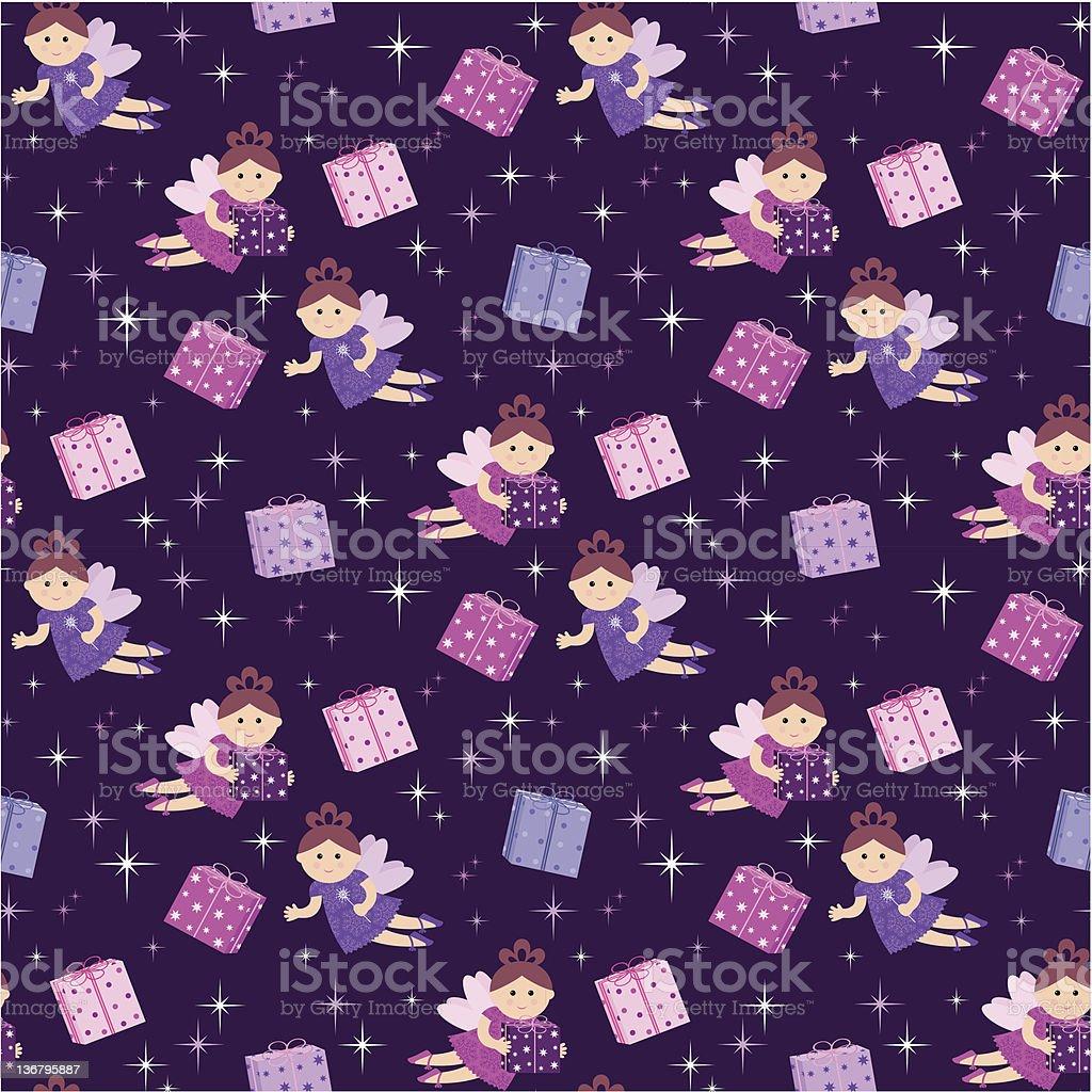 Seamless fairy pattern royalty-free stock vector art