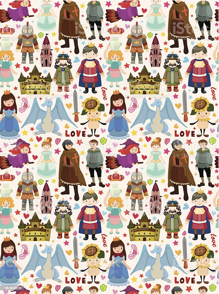 seamless Fairy tale pattern royalty-free stock vector art