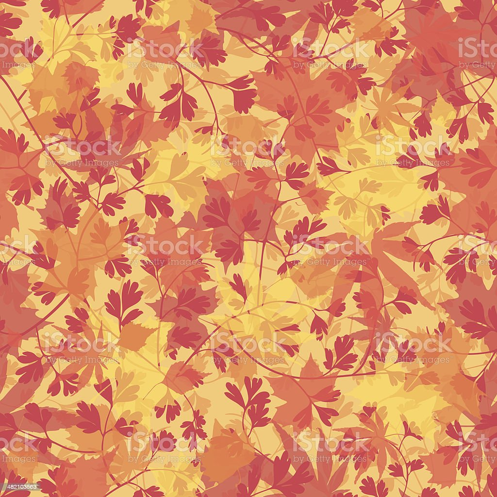 Seamless Fall wallpaper background vector art illustration