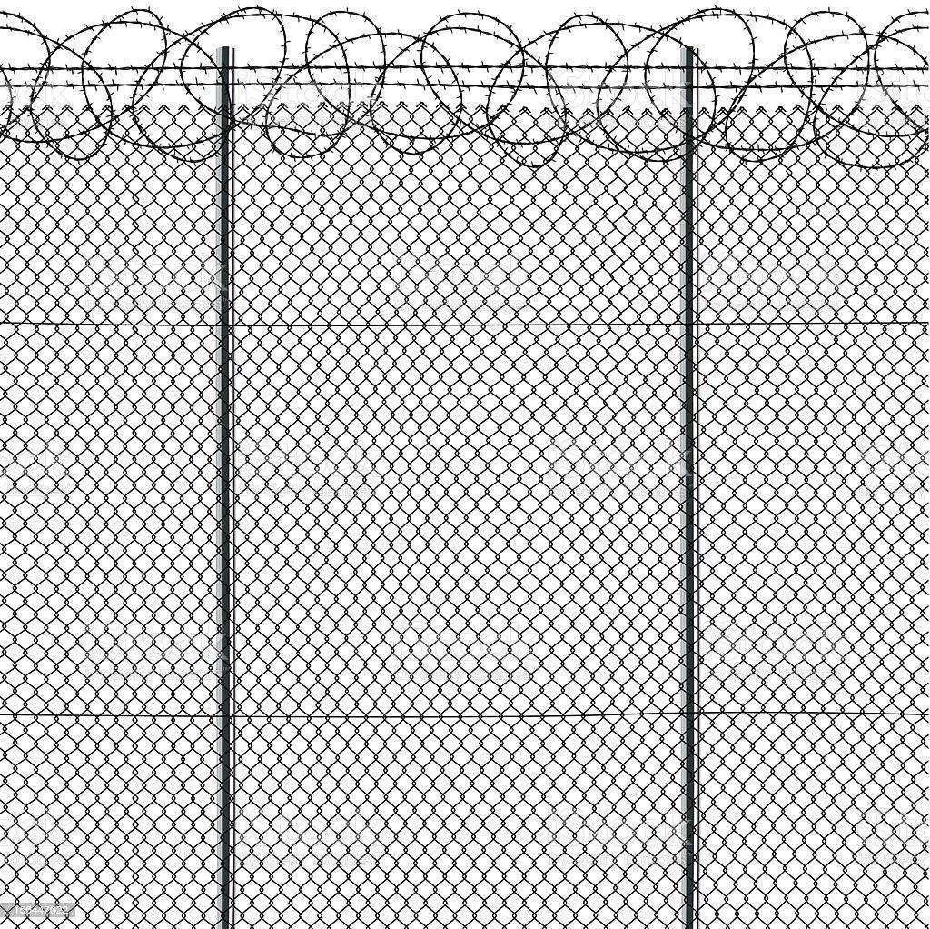 Seamless fence vector art illustration
