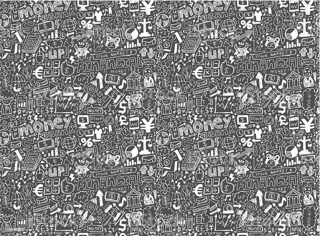 seamless financial pattern royalty-free stock vector art