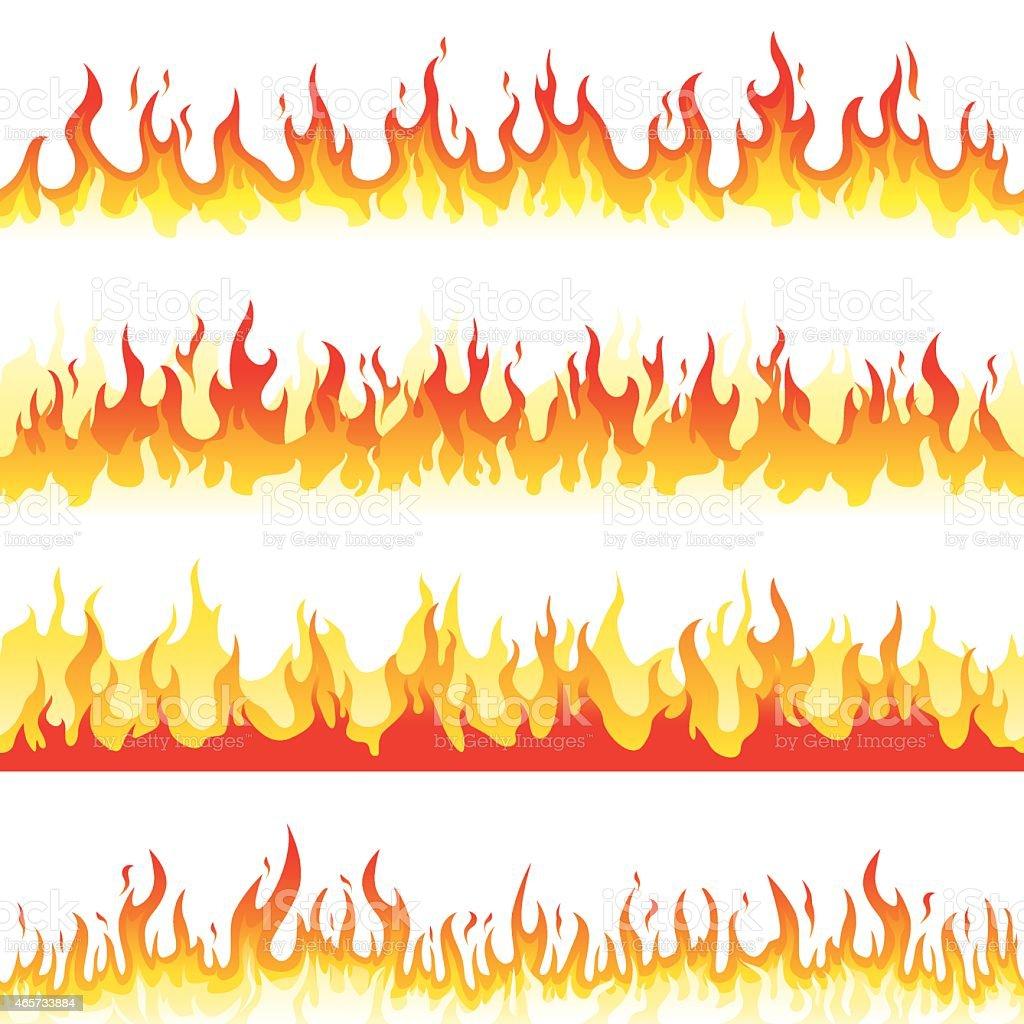 Seamless Fire Flame vector art illustration