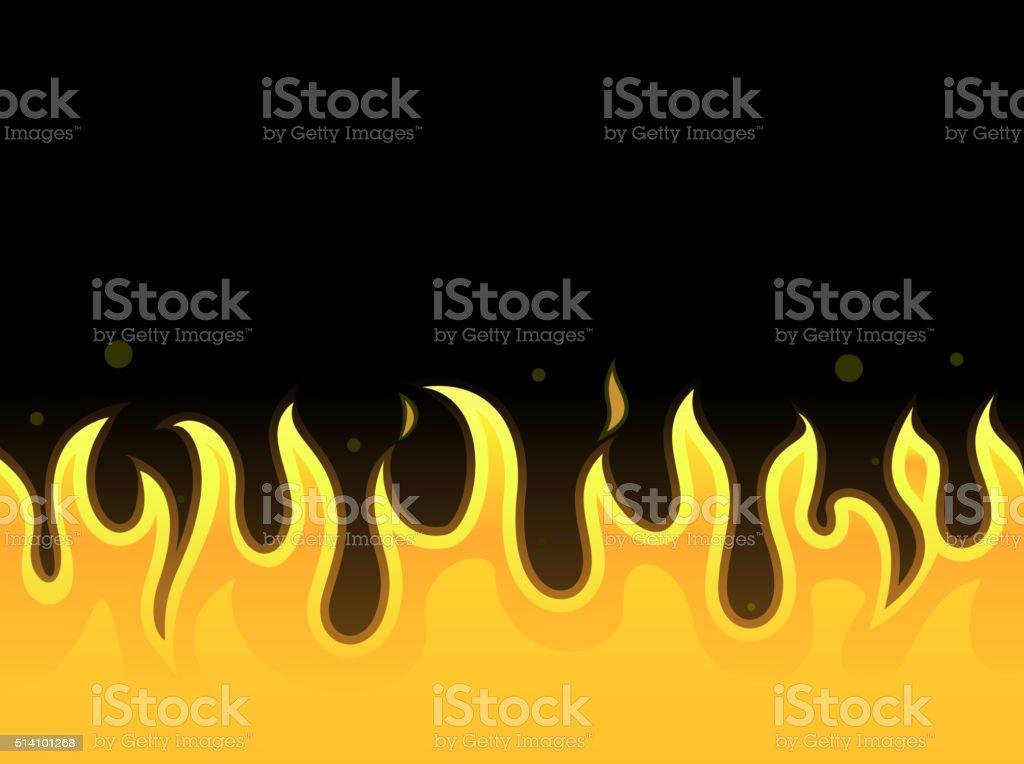 Seamless fire vector art illustration