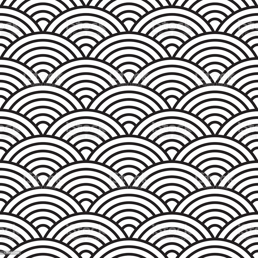seamless fish scale pattern (vector) vector art illustration