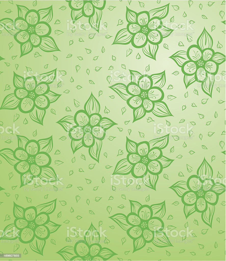 Seamless Floral Background vector art illustration