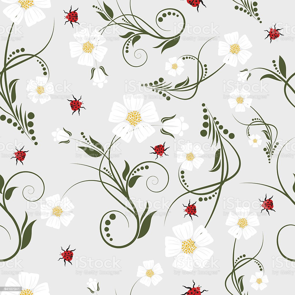 seamless floral background royalty-free stock vector art