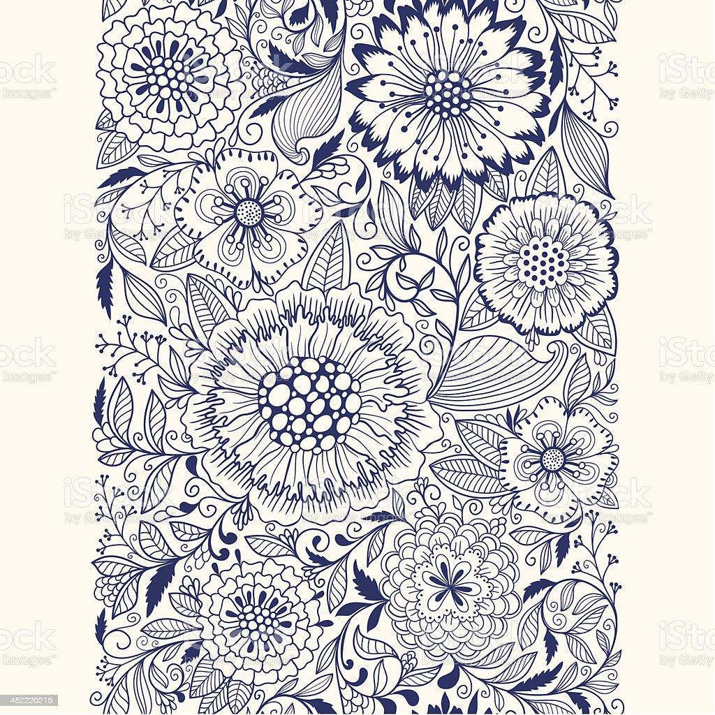 Seamless floral ornament royalty-free stock vector art