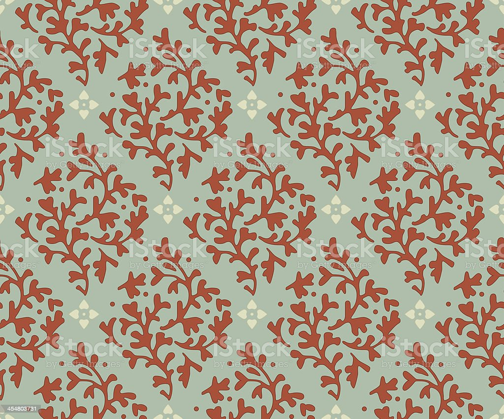 Seamless Floral Pattern 2 royalty-free stock vector art