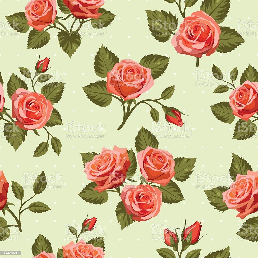 Seamless Floral  pattern 7 vector art illustration