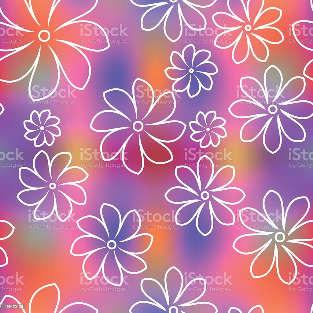 Seamless floral pattern background vector art illustration