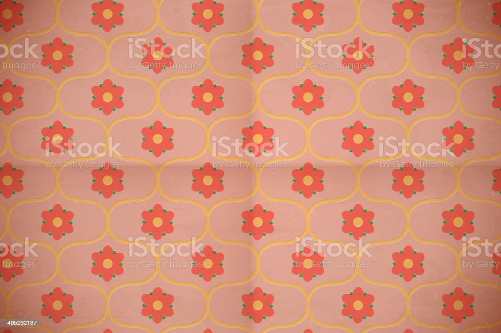 Seamless floral pattern on the cardboard royalty-free stock vector art