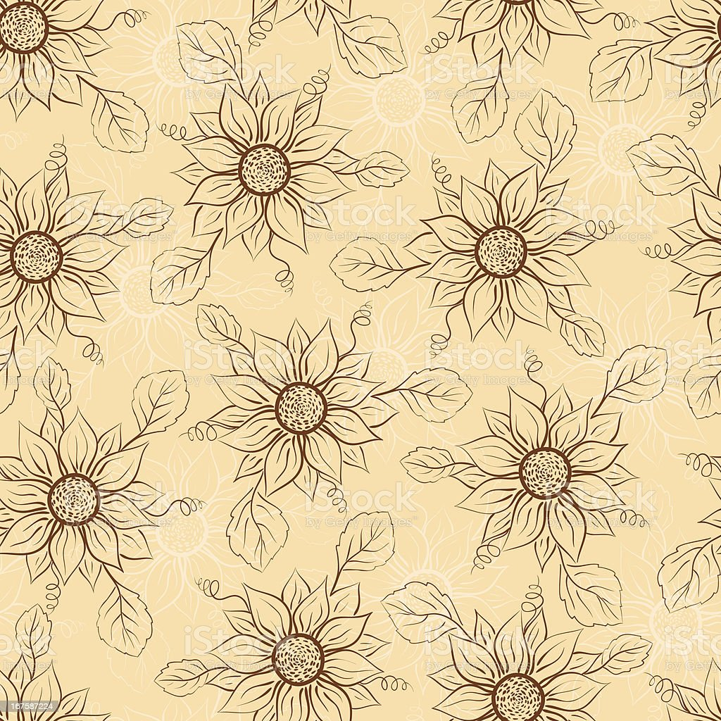 Seamless floral pattern. royalty-free stock vector art