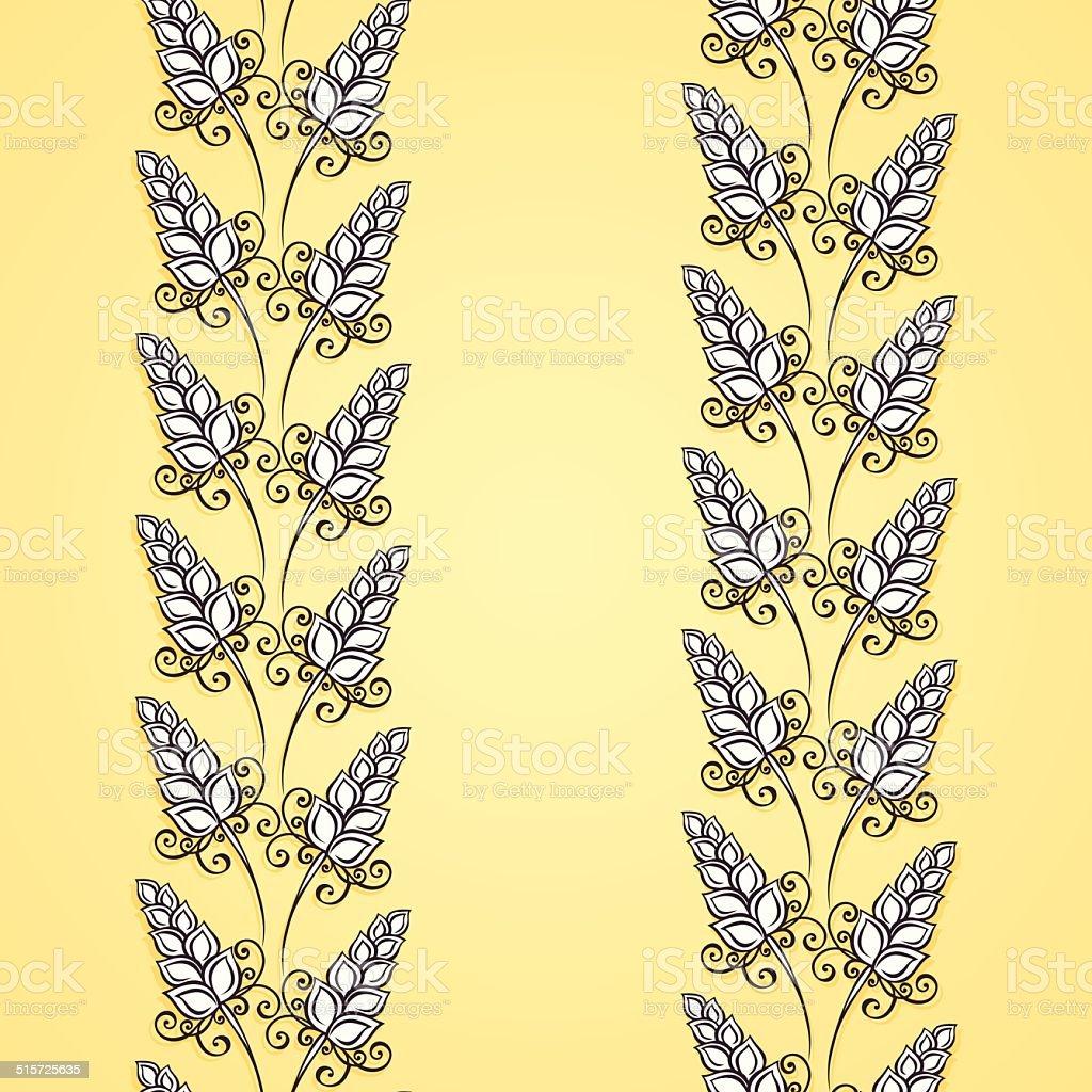 Seamless Floral Pattern (Vector) vector art illustration
