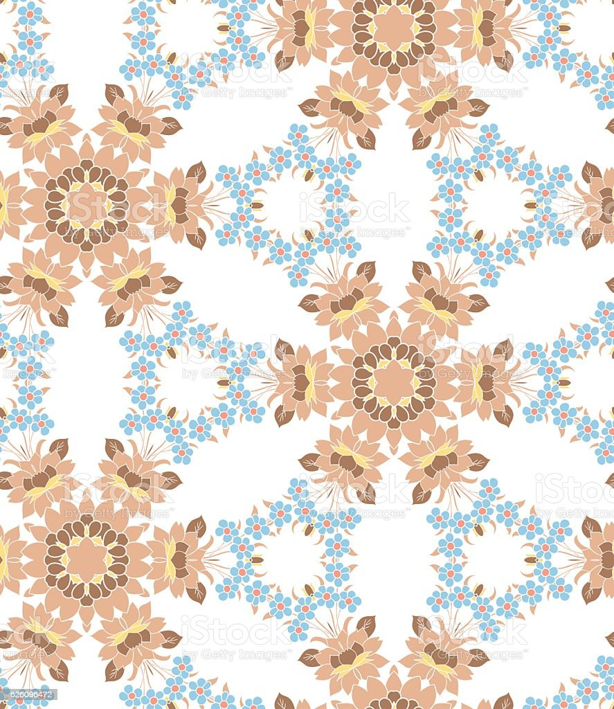 Seamless floral pattern. vector art illustration