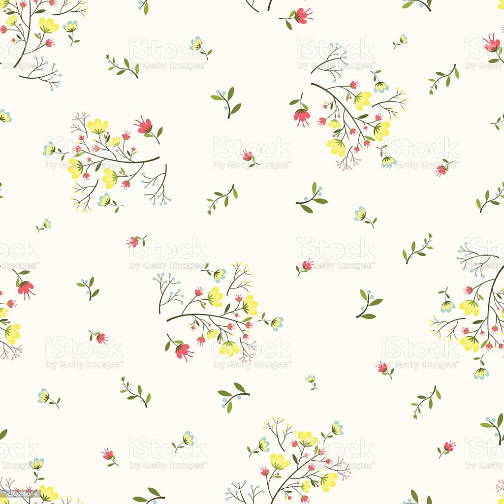 seamless floral pattern vintage background stock vector
