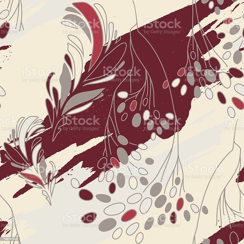 Sem costura padrão Floral com flores vetor e ilustração royalty-free royalty-free