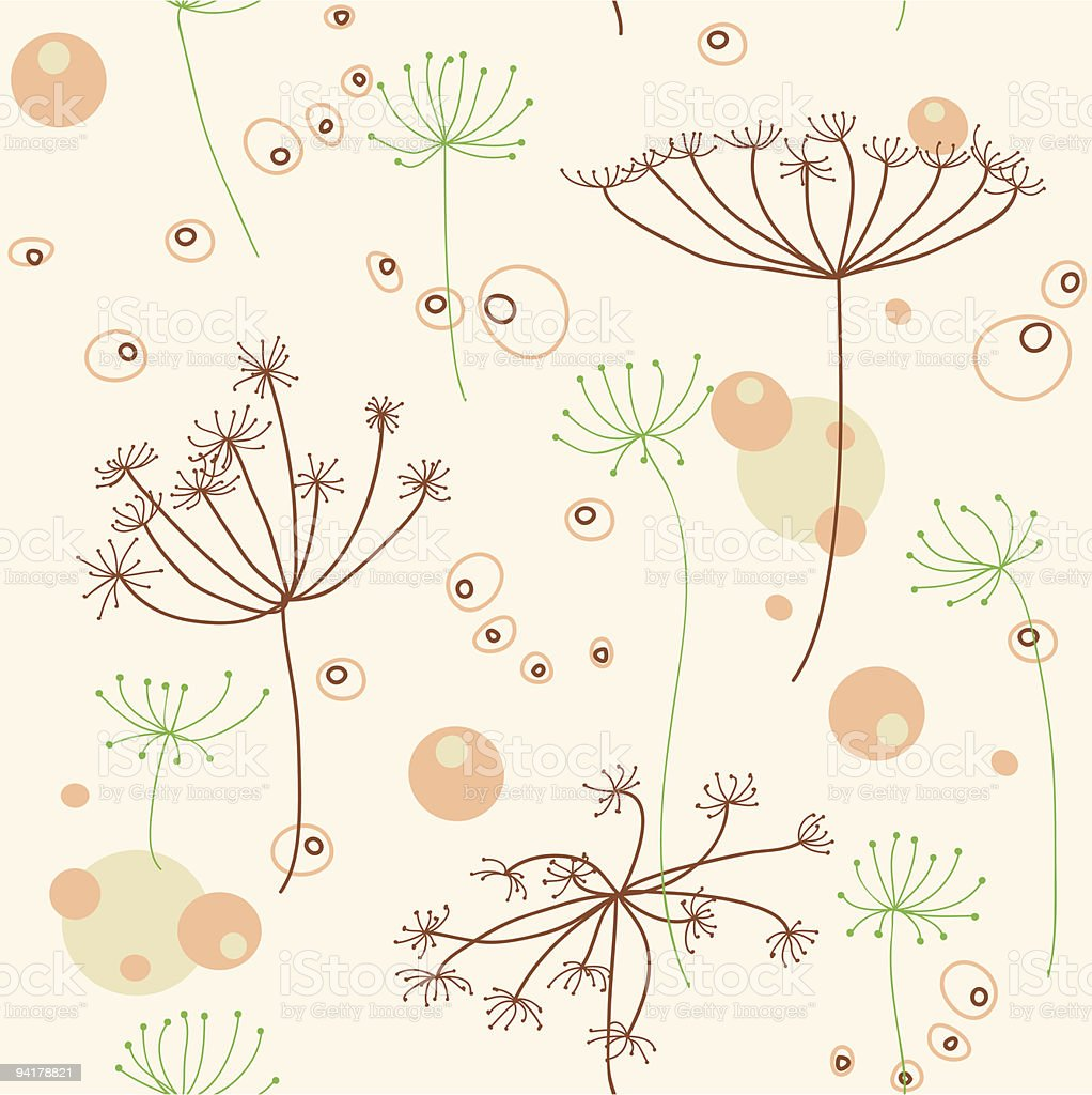 Seamless floral pattern with garden plants royalty-free stock vector art