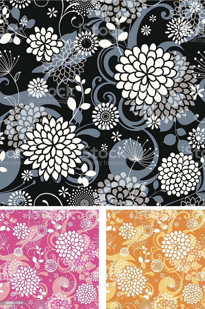 Seamless Floral Patterns royalty-free stock vector art