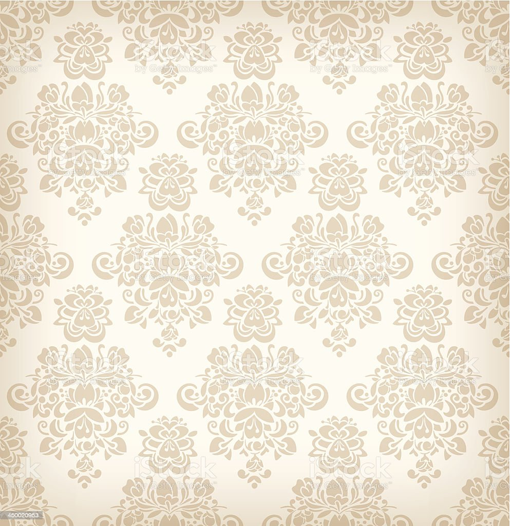 Seamless floral retro pattern. royalty-free stock vector art